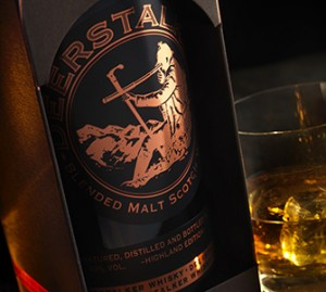 Deerstalker Blended Malt whisky and glass